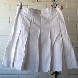 Vintage Lilly Pulitzer White Pleated Skirt Sz 2